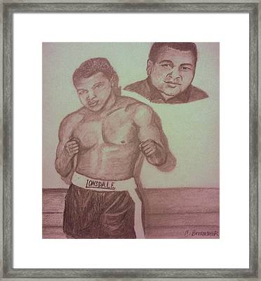 Muhammad Ali Framed Print by Christy Saunders Church