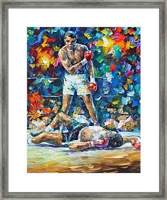 Muhammad Ali Framed Print by Leonid Afremov