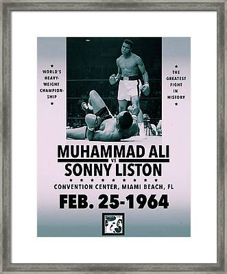Muhammad Ali Poster Framed Print by Dan Sproul