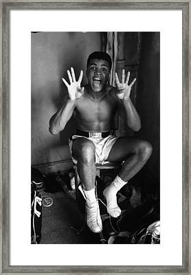 Muhammad Ali Showing Off  Framed Print by Retro Images Archive