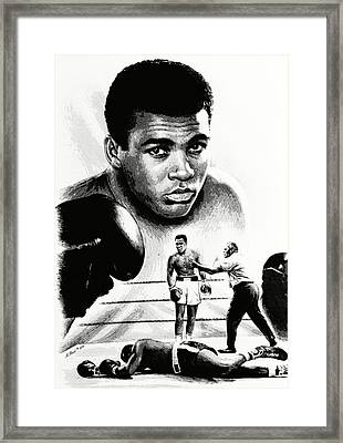 Muhammad Ali The Greatest Framed Print by Andrew Read