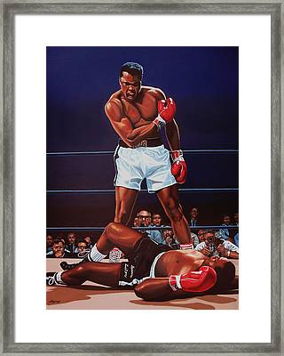 Muhammad Ali Versus Sonny Liston Framed Print by Paul Meijering