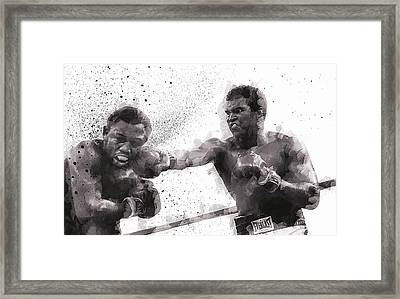 Muhammad Ali Vs Joe Frazier Framed Print by Daniel Hagerman