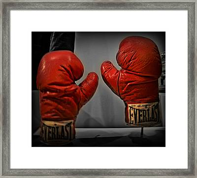 Muhammad Ali's Boxing Gloves Framed Print by Bill Cannon