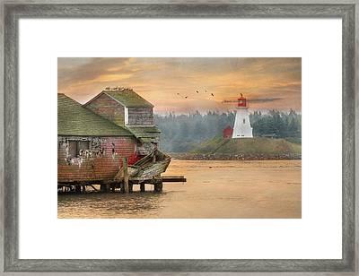 Mulholland Point Lighthouse Framed Print by Lori Deiter