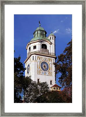 Mullersches Volksbad Munich Germany - A 19th Century Spa Framed Print by Christine Till