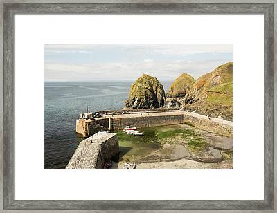 Mullion Cove Harbour Framed Print by Ashley Cooper
