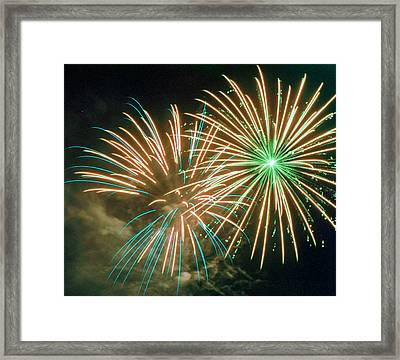 4th Of July Fireworks 2 Framed Print by Howard Tenke