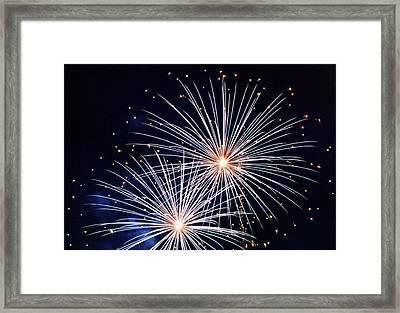 4th Of July Fireworks 3 Framed Print by Howard Tenke