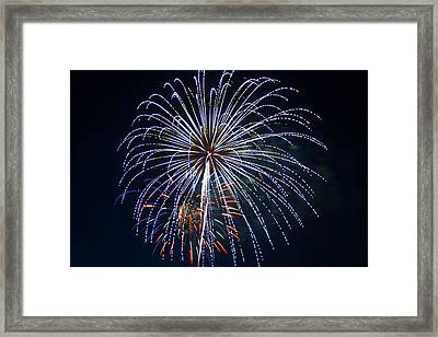 4th Of July Fireworks 12 Framed Print by Howard Tenke