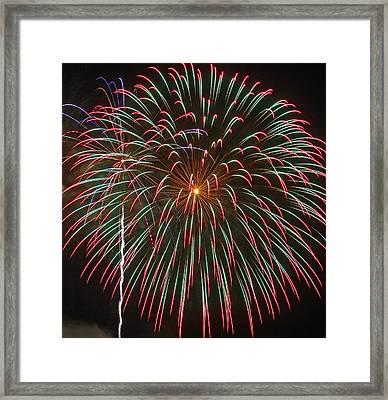 4th Of July Fireworks 16 Framed Print by Howard Tenke