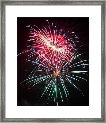 4th Of July Fireworks 18 Framed Print by Howard Tenke