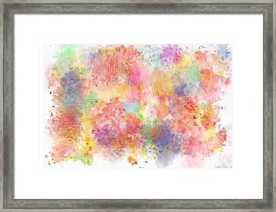 Multi Colored Ditgital Abstract 5 Framed Print by Debbie Portwood