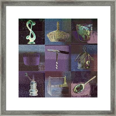 Multi Home Decor - Bz01 Framed Print by Variance Collections