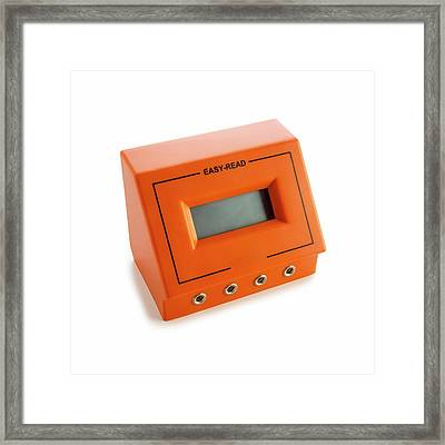 Multi-purpose Meter Framed Print by Science Photo Library