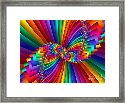 Multichrome 5 Framed Print by TJ Art