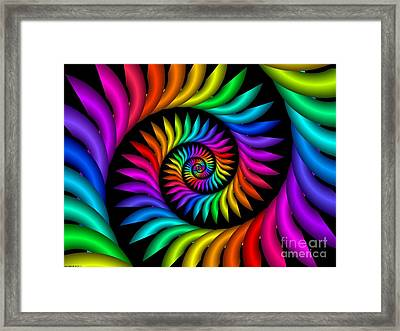 Multichrome  9 Framed Print by TJ Art