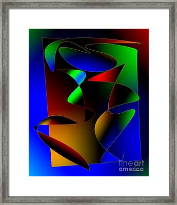 Multicolor Abstract Art Framed Print by Mario Perez