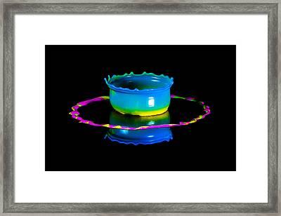 Multicoloured Bowl Framed Print by Jaroslaw Blaminsky