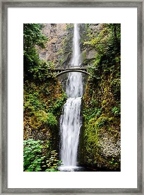 Multnomah Falls Oregon Waterfalls Framed Print by Puget  Exposure