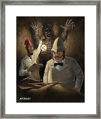 Mummy Awake Framed Print by Martin Davey