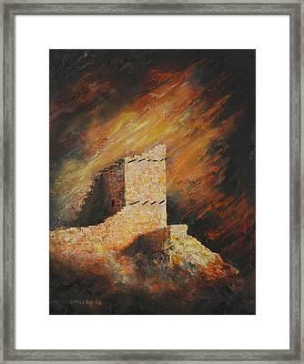 Mummy Cave Ruins 2 Framed Print by Jerry McElroy