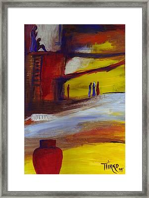 Mundo Abstract 66 Framed Print by Mirko Gallery