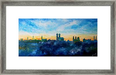 Munich Skyline With Church Of Our Lady Framed Print by M Bleichner