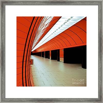 Munich Subway I Framed Print by Hannes Cmarits