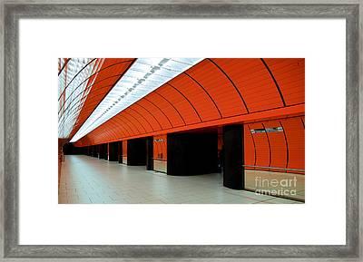 Munich Subway IIi Framed Print by Hannes Cmarits