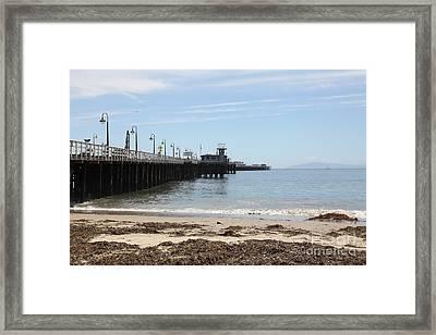 Municipal Wharf At The Santa Cruz Beach Boardwalk California 5d23766 Framed Print by Wingsdomain Art and Photography