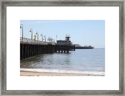 Municipal Wharf At The Santa Cruz Beach Boardwalk California 5d23767 Framed Print by Wingsdomain Art and Photography