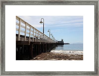 Municipal Wharf At The Santa Cruz Beach Boardwalk California 5d23768 Framed Print by Wingsdomain Art and Photography