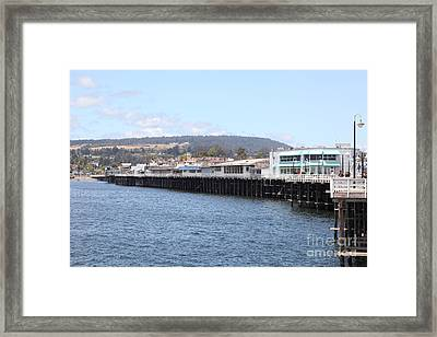 Municipal Wharf At The Santa Cruz Beach Boardwalk California 5d23813 Framed Print by Wingsdomain Art and Photography