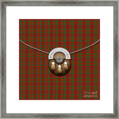Munroe Tartan And Sporran Framed Print by Chris MacDonald
