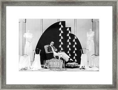 Munsing Wear Store Display Framed Print by Underwood Archives