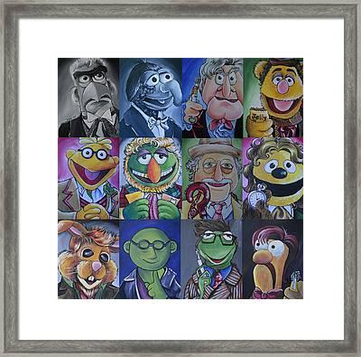 Muppet Doctor Who Mash-up Updated Framed Print by Lisa Leeman