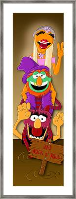Muppet's Stretching Room Portrait #1 Framed Print by Lisa Leeman