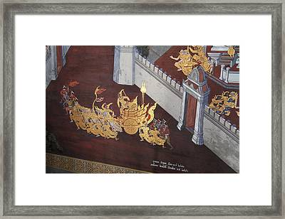 Mural - Grand Palace In Bangkok Thailand - 011310 Framed Print by DC Photographer