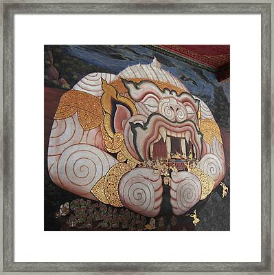 Mural - Grand Palace In Bangkok Thailand - 011311 Framed Print by DC Photographer