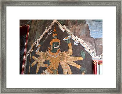Mural - Grand Palace In Bangkok Thailand - 01134 Framed Print by DC Photographer
