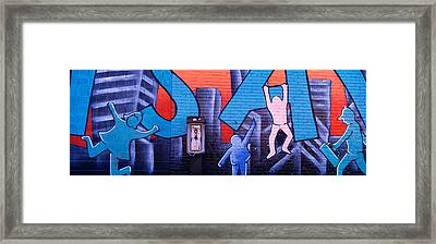 Mural, Nyc, New York City, New York Framed Print by Panoramic Images