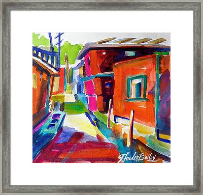 Murano Back Street Italy Framed Print by Therese Fowler-Bailey