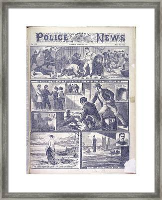 Murder At George's Yard Framed Print by British Library