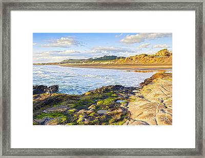 Muriwai Beach Auckland New Zealand Framed Print by Colin and Linda McKie