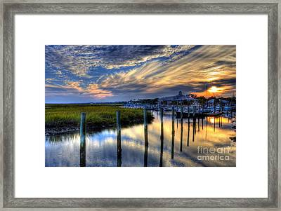 Murrells Inlet Sunset 1 Framed Print by Mel Steinhauer