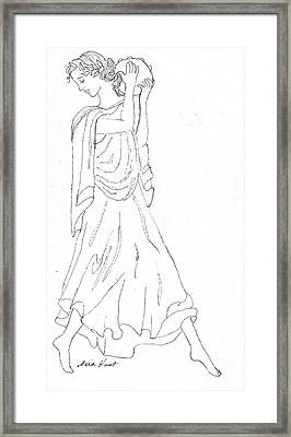 Terpsichore Muse Of Dance Framed Print by Maria Hunt