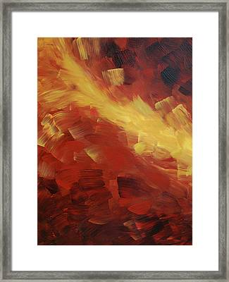 Muse In The Fire 1 Framed Print by Sharon Cummings