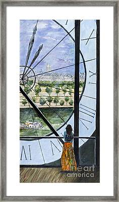 Musee D'orsay In Paris By Sandy Taffin Framed Print by Sheldon Kralstein