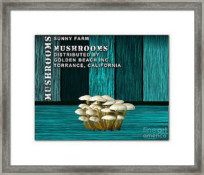 Mushroom Farm Framed Print by Marvin Blaine